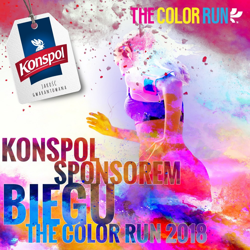 Marka Konspol angażuje się w The Color Run 2018
